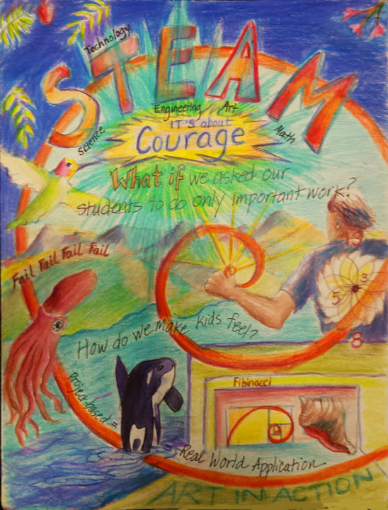 Contra Costa County's STEAM conference, honoring the teacher of the year.